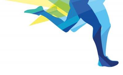Plakat Sylwetka człowieka z systemem Nogi przezroczyste nakładki kolory