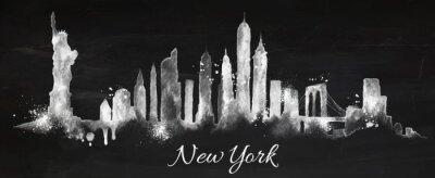Plakat Sylwetka kredy Nowym Jorku