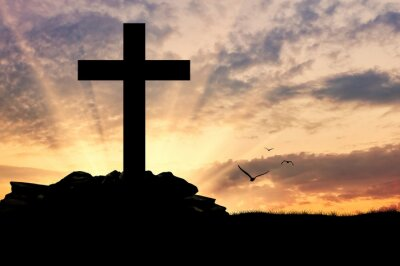 Plakat Sylwetka krzyża