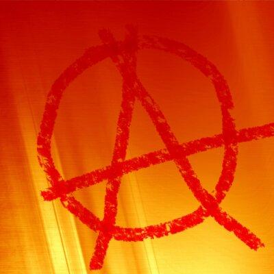 Plakat symbol anarchii