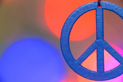 Plakat symbol pokoju