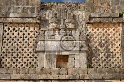 Plakat Symbol ściana boga Chak wody w Uxmal, Meksyk