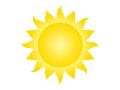 Plakat Symbol słońce na białym tle