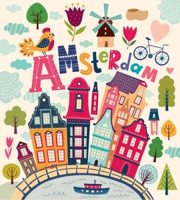 Plakat Symbole Amsterdam