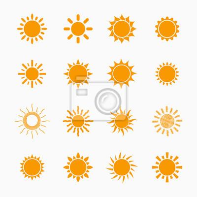 Plakat Symbole Pomarańczowy Sun Set, elementy konstrukcji wektora