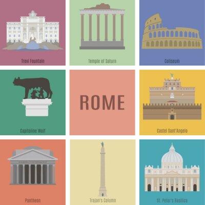 Plakat Symbole Rzymie