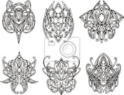 Symetryczne Wzory Tatuaż Węzeł Plakaty Redro
