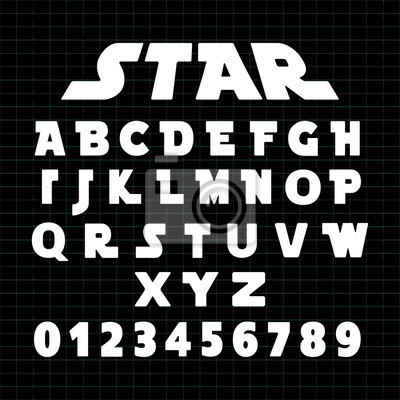 Plakat Szablon czcionki alfabetu