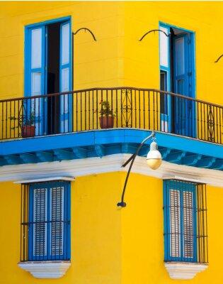 Plakat Szczegóły kolonialnym budynku w Starej Hawanie