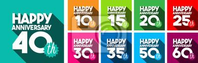 Plakat Szczęśliwa dziesiąta rocznica szczęśliwej 60. rocznicy