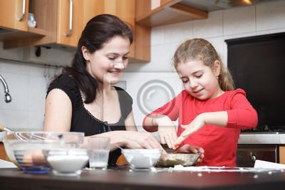 Plakat Ciasto Na Naleśniki W Szklanej Miski Jajka Szklankę