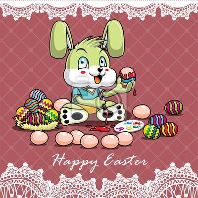 Plakat Szczęśliwa szablon Wielkanoc