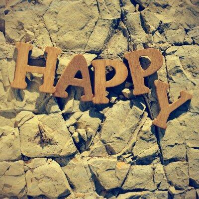 Plakat szczęśliwy