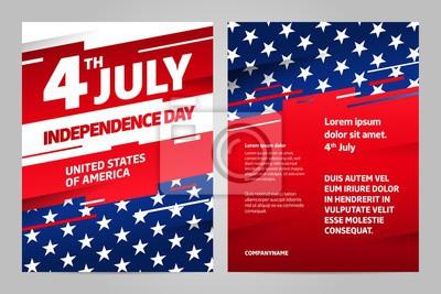 Plakat Szczęśliwy dzień niepodległości 4 lipca, Stany Zjednoczone Ameryki dzień. USA