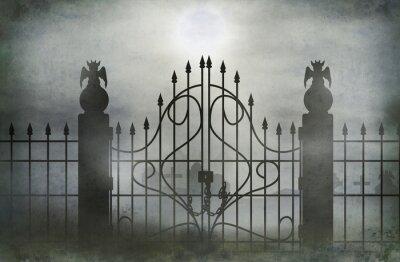 Plakat Szeroka brama cmentarz