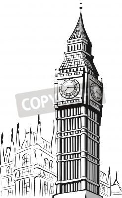 Plakat Szkic Big Ben Londyn