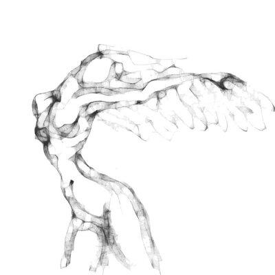 Plakat Szkic kobiety latającej