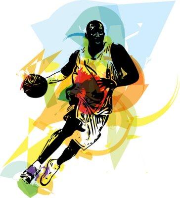 Plakat Szkic koszykarz