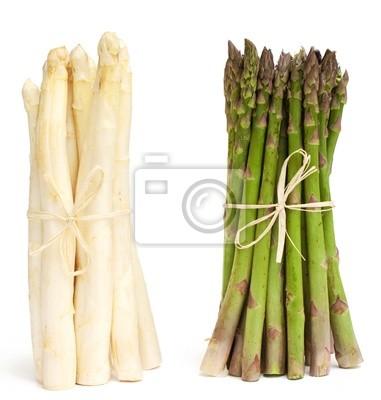 Plakat Szparagi białe i zielone