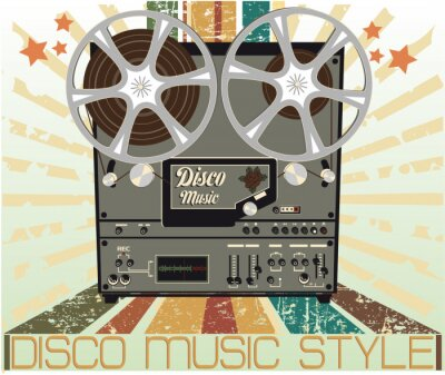 Plakat Szpulka magnetofon