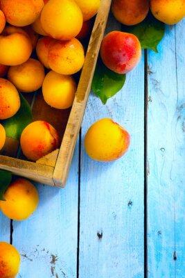 Plakat Sztuka abstrakcyjny rynku owoców na tle drewniane