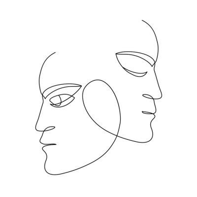 Plakat sztuka twarz człowieka