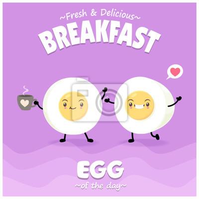 Sztuka warzyw plakat projekt wektor znaków jaja.