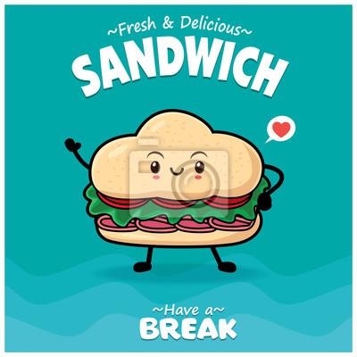 Sztuka warzyw plakat projekt wektor znaków kanapkę.