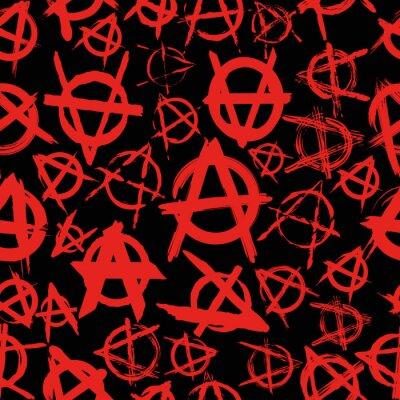 Plakat szwu z objawami anarchii