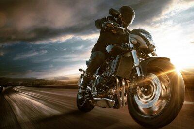 Plakat Szybki motocykl