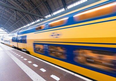 Plakat Szybkie przenoszenie pociągu w Central Station