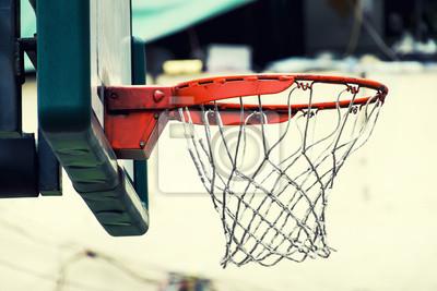 Plakat Tablica do koszykówki w klasycznym stylu obrazu