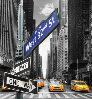 Plakat Taksówki w Nowym Jorku.