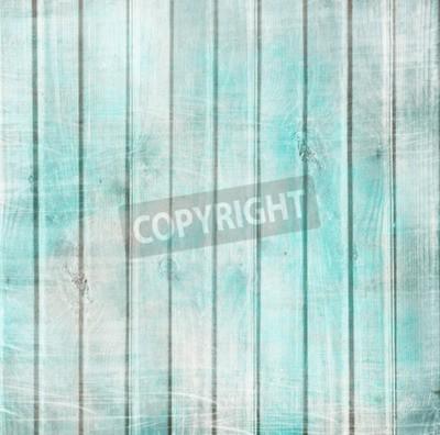 Plakat Tamtejsze stare tło deski w kolorze turkusowym, mięty i beżu z teksturą zadrapaniami i zabytkowe krakingu farby do scrapbookingu i decoupage