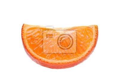 Plakat Tangerine citrus slice on white