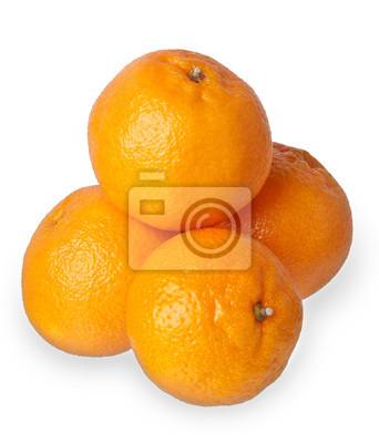 Tangerine samodzielnie na białym tle