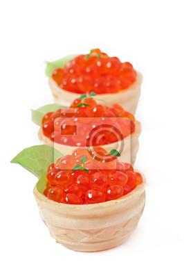 Tartlets z czerwonym kawiorem
