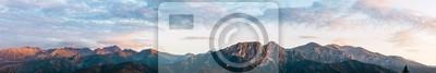 Plakat Tatra mountains panorama. Zakopane town in Poland