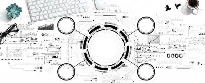 Plakat Tech circle with a computer keyboard