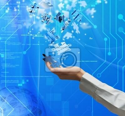 Plakat Technologia Puzzle