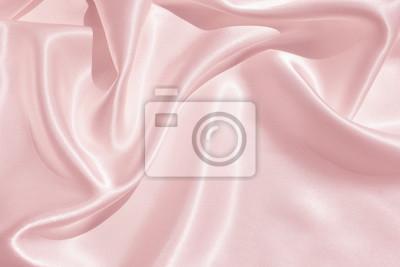 Plakat Tekstura tkaniny satynowej w kolorze różowym na tle