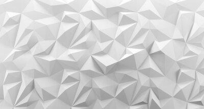 Plakat Tekstura tło białe low poly. Renderowania 3d.