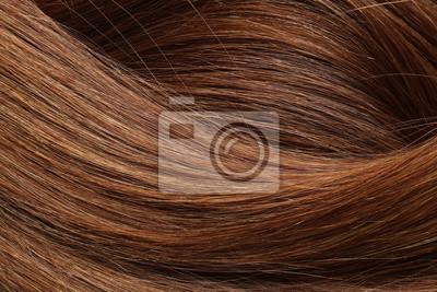 Plakat Tekstura zdrowy czerwony włosy jako tło, zbliżenie