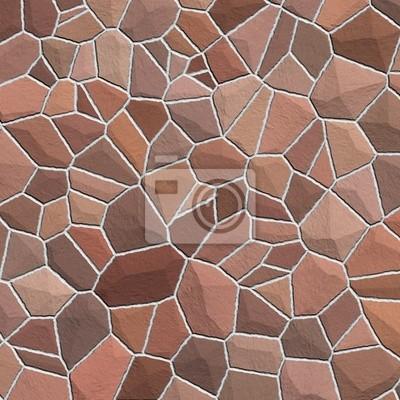 Plakat Tekstury kamieni w odcieniach brązu