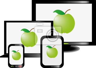 Plakat Telewizor LCD, laptop, tablet i telefon