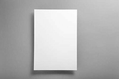 Plakat template concept, white blank layout on ultimate gray background, copy space, mock up
