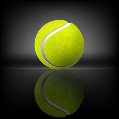 Plakat Tenis Ball Wszystkie elementy są w oddzielnych warstwach i pogrupowane.