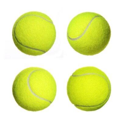 Plakat Tennis Ball kolekcji samodzielnie na białym tle. Zbliżenie