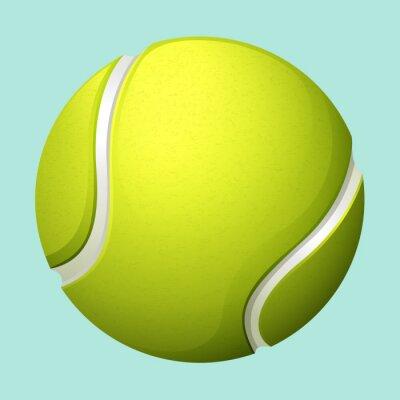 Plakat Tennis ball on green