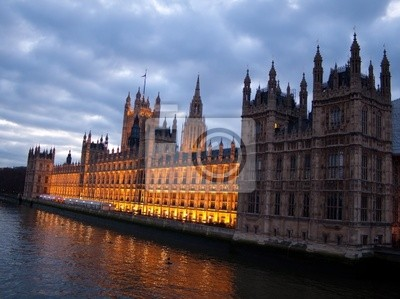Plakat The Houses of Parliament na zmierzchu